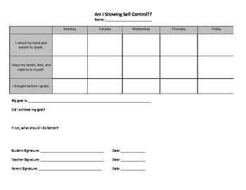 Self-Control Student Tracker