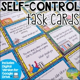 Self Control Task Cards - Distance Learning