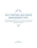 Self Control and Anger Management Unit