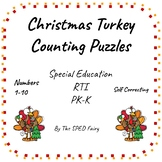 Self-Correcting Christmas Turkey Counting Puzzles