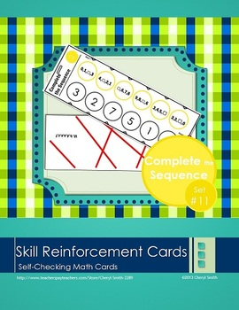 Self Correcting Math Skill Reinforcement Cards, Set #11: Complete the Sequence