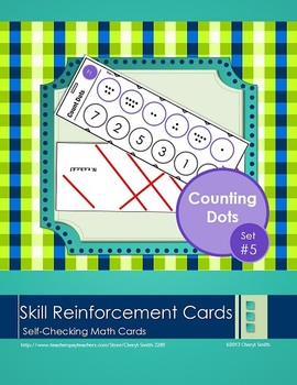 Self Correcting Math Skill Reinforcement Cards, Set #5: Counting Dots