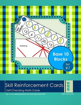 Self Correcting Math Skill Reinforcement Cards, Set #7: Ba