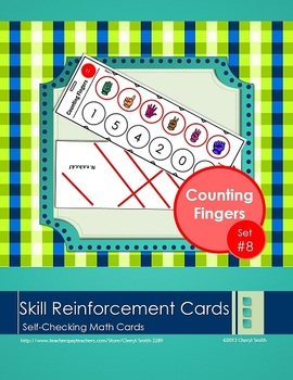 Self Correcting Math Skill Reinforcement Cards, Set #8: Counting Fingers