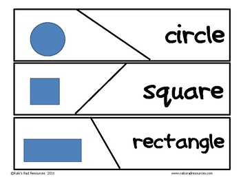Self Correcting Puzzle - 2 Dimensional Shape Words
