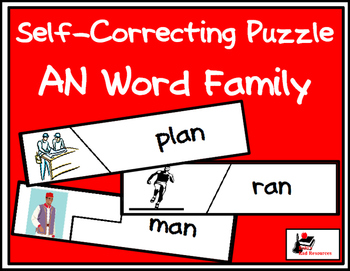 Self Correcting Puzzle - AN Word Family Words
