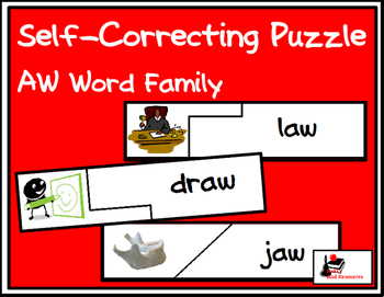 Self Correcting Puzzle - AW Word Family Words