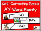 Self Correcting Puzzle - AY Word Family Words