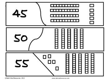 Self Correcting Puzzle - Base 10 Blocks 0 - 100 by 5's