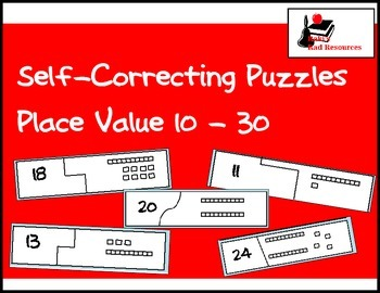 Self Correcting Puzzle - Base 10 Blocks 10-30