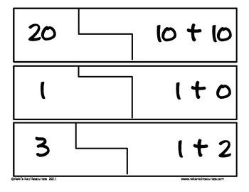 Self Correcting Puzzle - Basic Addition 1-20