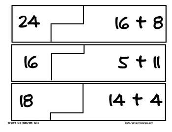 Self Correcting Puzzle - Basic Addition 10-30