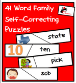 Self Correcting Puzzle Bundle - 41 Different Word Family Puzzles