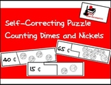 Self Correcting Puzzle - Counting Nickles & Dimes - 100 cents