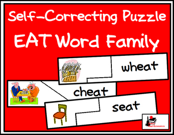 Self Correcting Puzzle - EAT Word Family Words