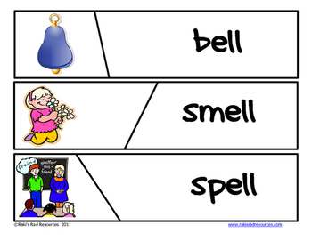Self Correcting Puzzle - ELL Word Family Words