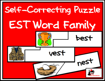 Self Correcting Puzzle - EST Word Family Words