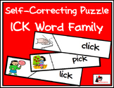 Self Correcting Puzzle - ICK Word Family Words