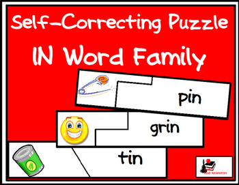 Self Correcting Puzzle - IN Word Family Words