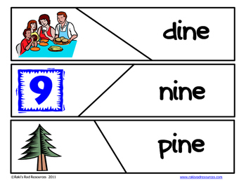Self Correcting Puzzle - INE Word Family Words