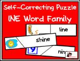 Self Correcting Puzzle - INE Word Family Words