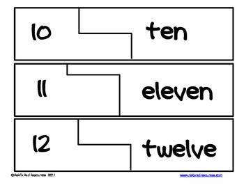 Self Correcting Puzzle - Number Words