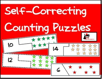 Self Correcting Puzzle - Numerals and Pictures