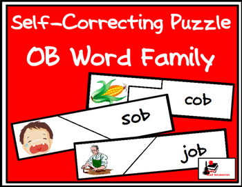 Self Correcting Puzzle - OB Word Family Words