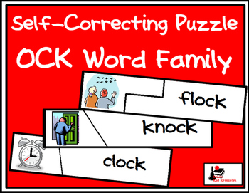 Self Correcting Puzzle - OCK Word Family Words