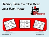 Self Correcting Puzzle - Telling Time to the Hour and Half Hour
