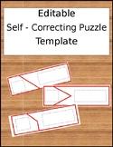 Self Correcting Puzzle Template - Editable