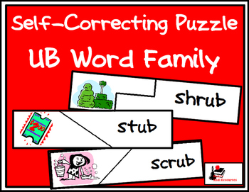Self Correcting Puzzle - UB Word Family Words