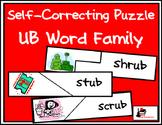 Self Correcting Puzzle - UB Word Family Words
