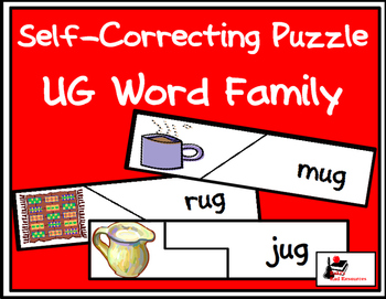 Self Correcting Puzzle - UG Word Family Words