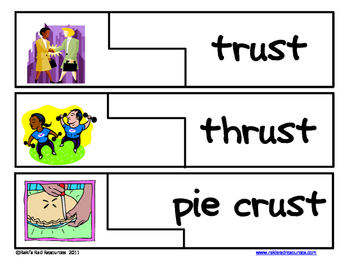 Self Correcting Puzzle - UST Word Family Words