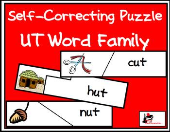 Self Correcting Puzzle - UT Word Family Words