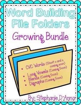 Self-Correcting Word Building File Folders (Growing Bundle)