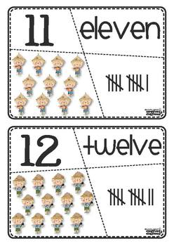 Self-Corrective Number Puzzles (Scarecrow/Fall Theme)