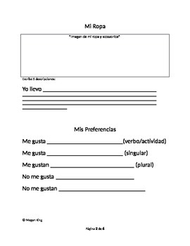 Self Description Spanish 2 Review Unit HW Packet