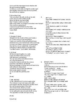 Self Destruction Song Analysis