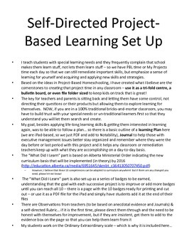 Self-Directed Project Based Learning Classroom/Homeschool