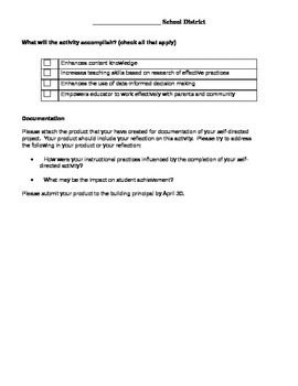 Self-Directed Supervision Template