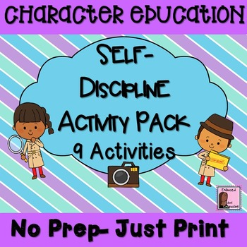 Self- Discipline Activity Pack- 9 Activities/ Awards/ Vouchers