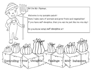 Self Discipline and the Spookley Pumpkin (ASCA aligned lesson and activity)