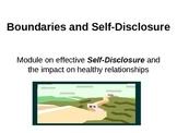 Self-Disclosure, Boundaries and the Johari Window for effective communication