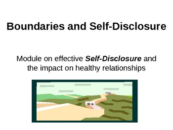 Self-Disclosure, Boundaries and the Johari Window for effective communication