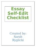 Essay Self Edit Checklist