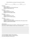 Self Edit checklist