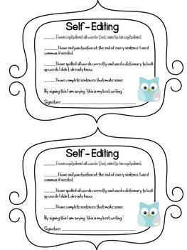 Self-Editing Checklist