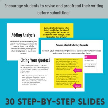 Self-Editing Essay Guide (Lord of the Flies)